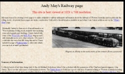 Andy May's Railway page